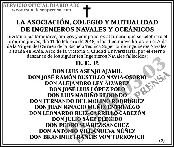 La Asociación, Colegio y Mutualidad de Ingenieros Navales y Oceánicos
